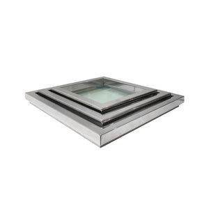 SQUARE CHROME AND GLASS NESTING TRAYS - Flair Home Collection