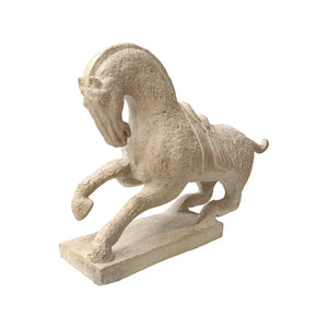 VINTAGE TANG DYNASTY STYLE REARING HORSE SCULPTURE BY AUSTIN PRODUCTIONS - Flair Home Collection
