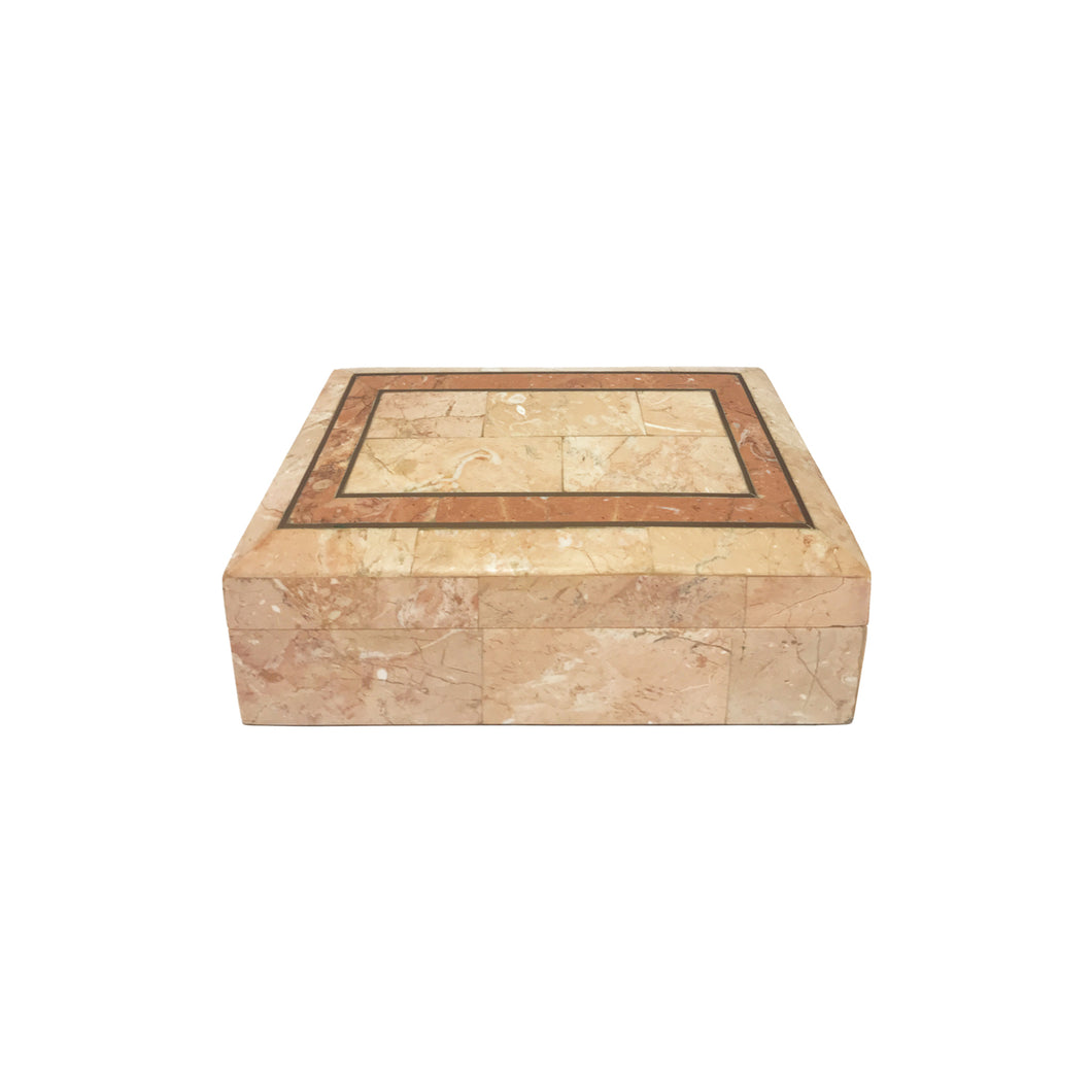 MAITLAND SMITH ROSE STONE BOX - Flair Home Collection