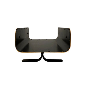 BLACK LEATHER AND BRASS MAGAZINE RACK/LOG HOLDER - Flair Home Collection