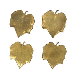 SET OF FOUR LEAF TRINKET TRAYS - Flair Home Collection