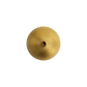 SMALL TEAR DROP CERAMIC VASE WITH 22K GOLD MATTE LUSTER - Flair Home Collection