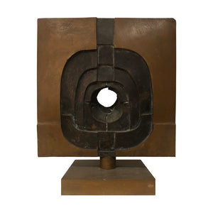VINTAGE ABSTRACT BRONZE SCULPTURE BY PAOLA MARTELLI - Flair Home Collection