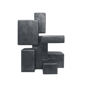"""PIETRO"" TABLE TOP SCULPTURE IN CHARCOAL FINISH - Flair Home Collection"