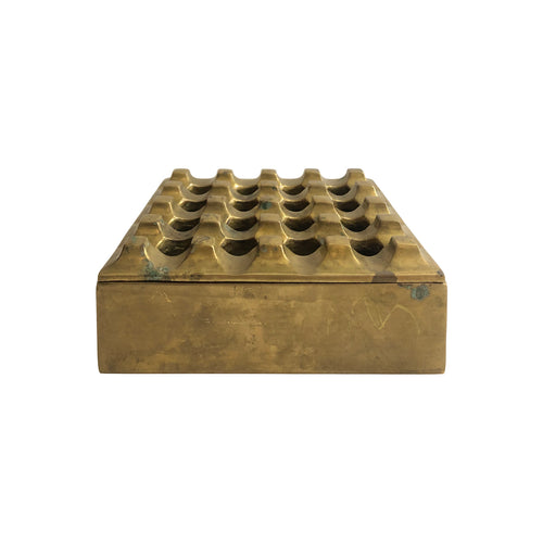 VINTAGE BRASS GRID ASHTRAY IN THE MANNER OF HOLGER BÄCKSTRÖM & BO LJUNGBERG - Flair Home Collection