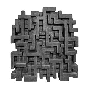 """GARAM"" WALL SCULPTURE IN CHARCOAL FINISH - Flair Home Collection"