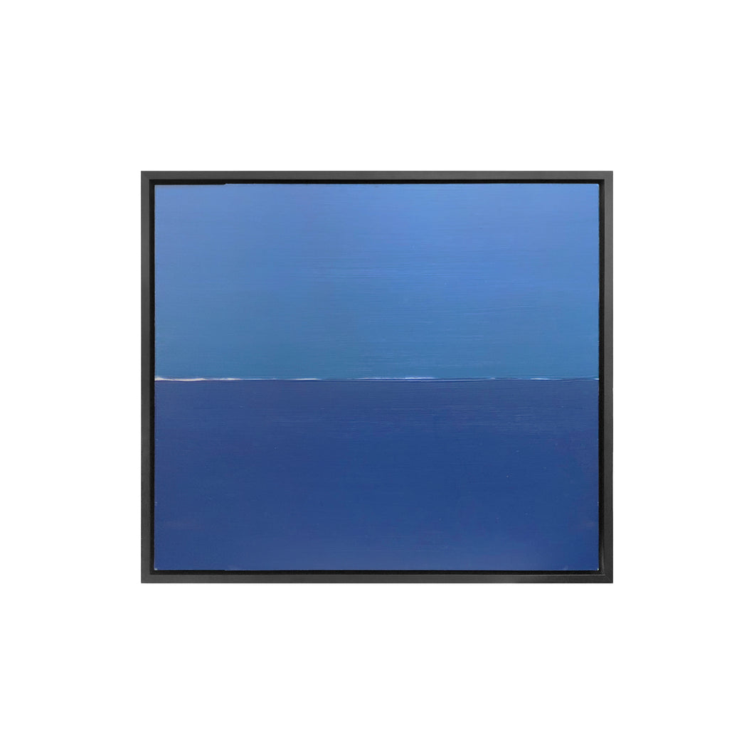 COLORFIELD SCHOOL MINIMALIST TWO TONE BLUE PAINTING - Flair Home Collection
