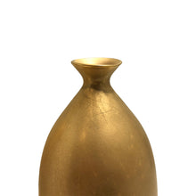 Load image into Gallery viewer, MEDIUM CERAMIC BOTTLE VASE WITH BURNISHED GOLD LUSTRE GLAZE - Flair Home Collection