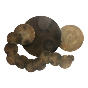 MIXED METAL CIRCLE WALL SCULPTURE BY JULES STILLMAN - Flair Home Collection