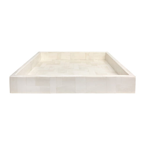 VINTAGE SQUARE TILED BONE TRAY - Flair Home Collection