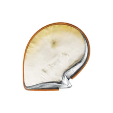 Load image into Gallery viewer, TEAK AND MOTHER OF PEARL SHELL TRAY WITH STERLING SILVER TRIM - Flair Home Collection