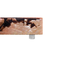 Load image into Gallery viewer, SMALL SQUARE SNAKE SHELL TRAY ON SQUARE CHROME FEET - Flair Home Collection