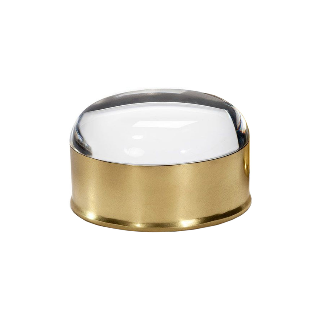 OVAL BRASS AND LUCITE BOX - Flair Home Collection