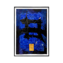Load image into Gallery viewer, ABSTRACT BLUE CALLIGRAPHIC PAINTING #2 BY MARC ASHMORE - Flair Home Collection