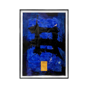 ABSTRACT BLUE CALLIGRAPHIC PAINTING #2 BY MARC ASHMORE - Flair Home Collection