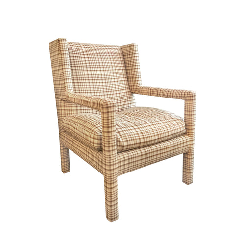 VINTAGE MILO BAUGHMAN UPHOLSTERED WING BACK CHAIR