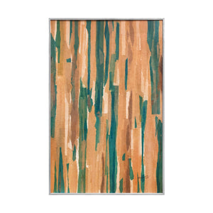 VINTAGE ABSTRACT COLOR FIELD MIXED MEDIA PAINTING - Flair Home Collection
