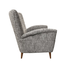 Load image into Gallery viewer, MIDCENTURY ITALIAN HIGH BACK ARM CHAIR IN CUT VELVET - Flair Home Collection