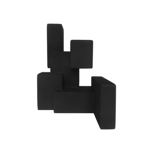 """NEGATIVE SPACE 5.1"" MATTE BLACK SCULPTURE IN RUBBER FINISH - Flair Home Collection"