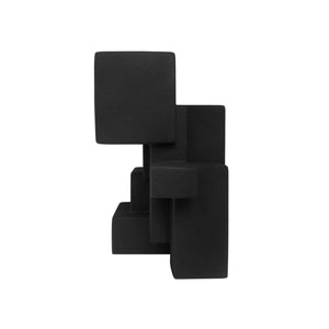 """NEGATIVE SPACE 5.3"" MATTE BLACK SCULPTURE IN RUBBER FINISH - Flair Home Collection"