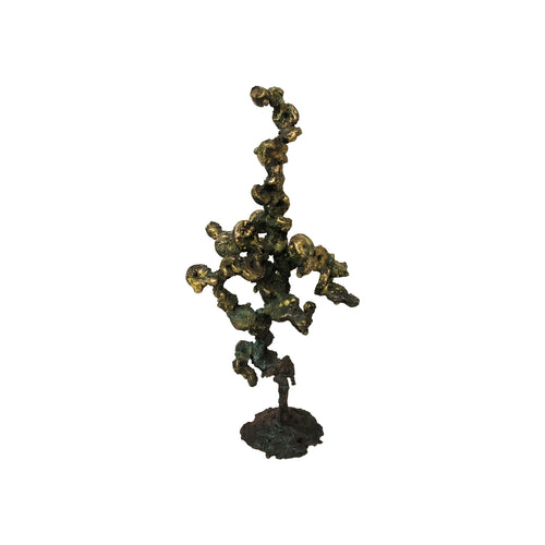 ABSTRACT BRONZE SPILL CAST SCULPTURE - Flair Home Collection