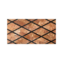 Load image into Gallery viewer, BRASS BOX WITH DIAMOND PATTERNED MARBLE LID - Flair Home Collection