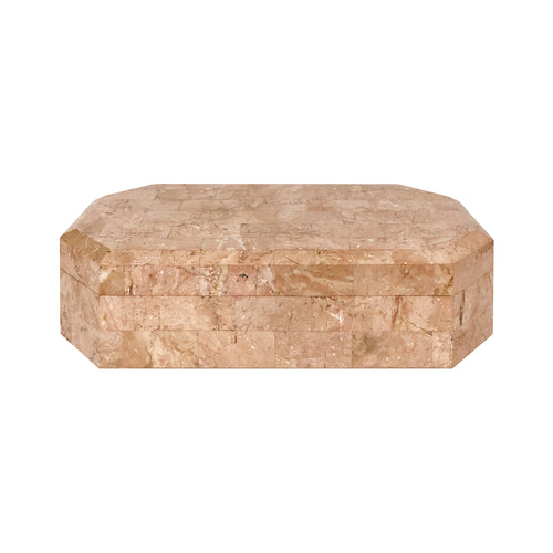 CORAL TESSELLATED STONE BOX - Flair Home Collection