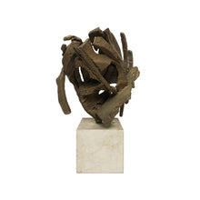 Load image into Gallery viewer, ABSTRACT BRONZE SCULPTURE ON STONE BASE - Flair Home Collection