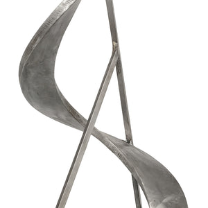 ABSTRACT ALUMINUM SCULPTURE SIGNED J. FEDER - Flair Home Collection