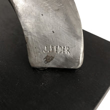 Load image into Gallery viewer, ABSTRACT ALUMINUM SCULPTURE SIGNED J. FEDER - Flair Home Collection