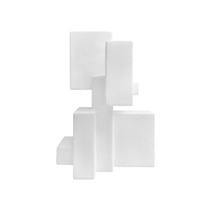 """POSITIVE SPACE 5.1"" TABLE TOP SCULPTURE IN WHITE FINISH - Flair Home Collection"