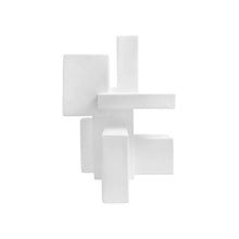 "Load image into Gallery viewer, ""POSITIVE SPACE 5.1"" TABLE TOP SCULPTURE IN WHITE FINISH - Flair Home Collection"