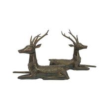 Load image into Gallery viewer, PAIR OF SARREID ORNATE REINDEER SCULPTURES - Flair Home Collection