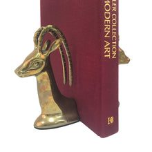 Load image into Gallery viewer, PAIR OF BRASS GAZELLE BOOKENDS - Flair Home Collection