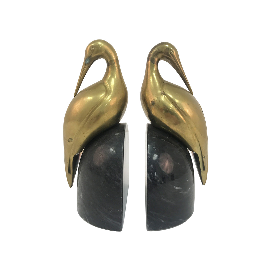 BRASS HERON BOOKENDS - Flair Home Collection