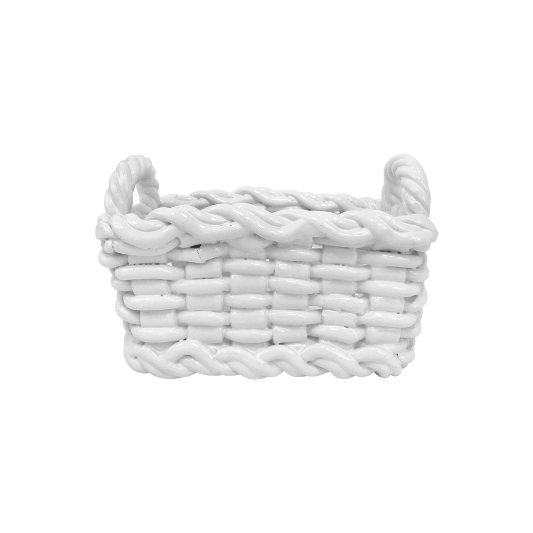 MID-CENTURY ITALIAN WOVEN CERAMIC BASKET - Flair Home Collection