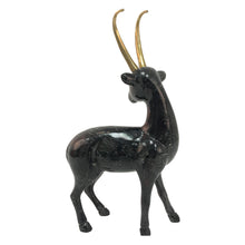 Load image into Gallery viewer, DOLBI CASHIER PAINTED WOODEN DEER WITH BRASS ANTLERS - Flair Home Collection
