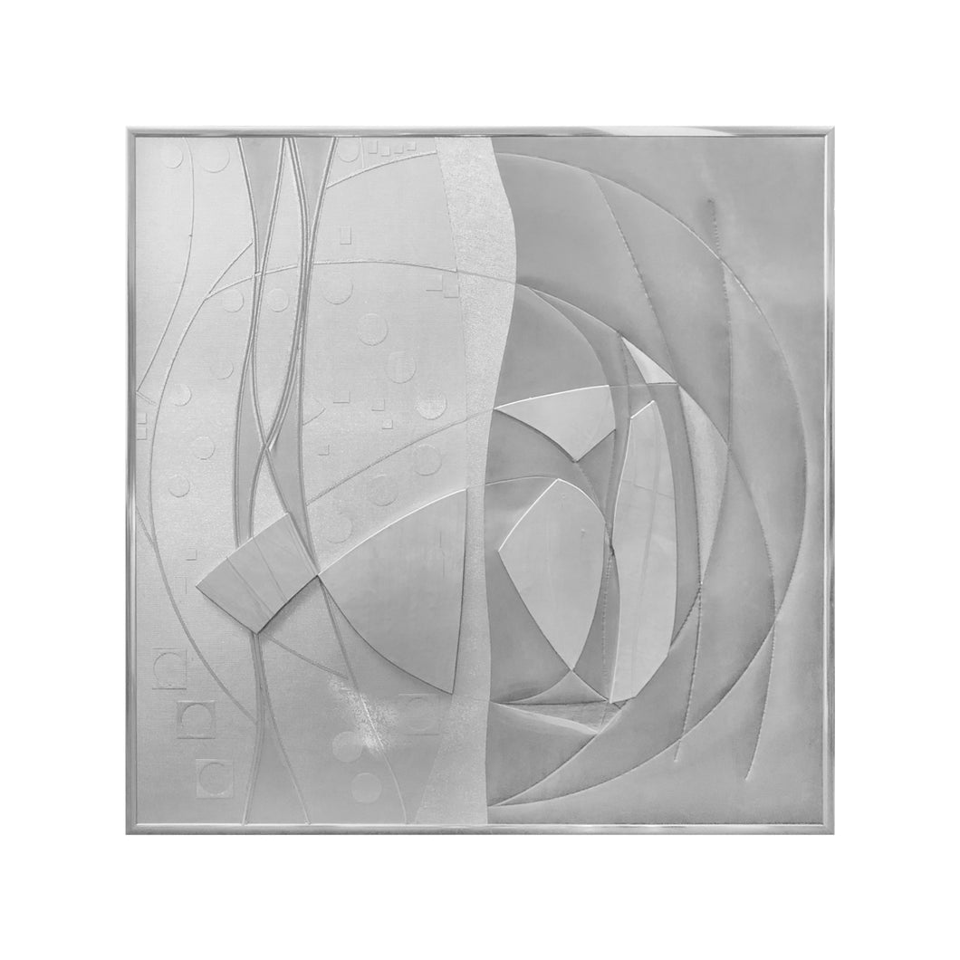MONUMENTAL BRUTALIST STEEL WALL SCULPTURE - Flair Home Collection