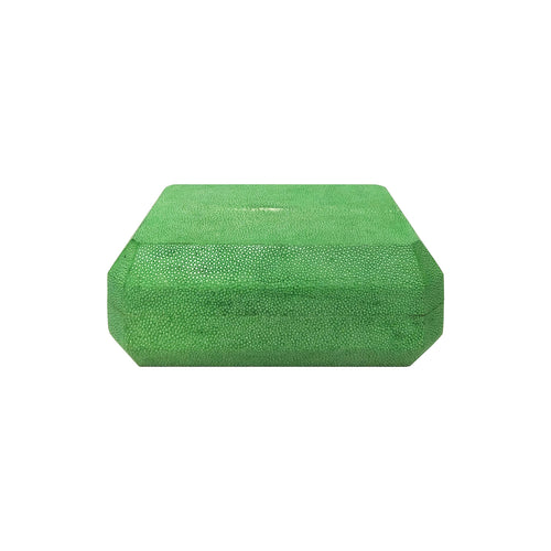 HANDMADE EMERALD GREEN SHAGREEN BOX - Flair Home Collection