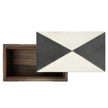 Load image into Gallery viewer, HANDMADE BLACK AND IVORY SHAGREEN BOX - Flair Home Collection