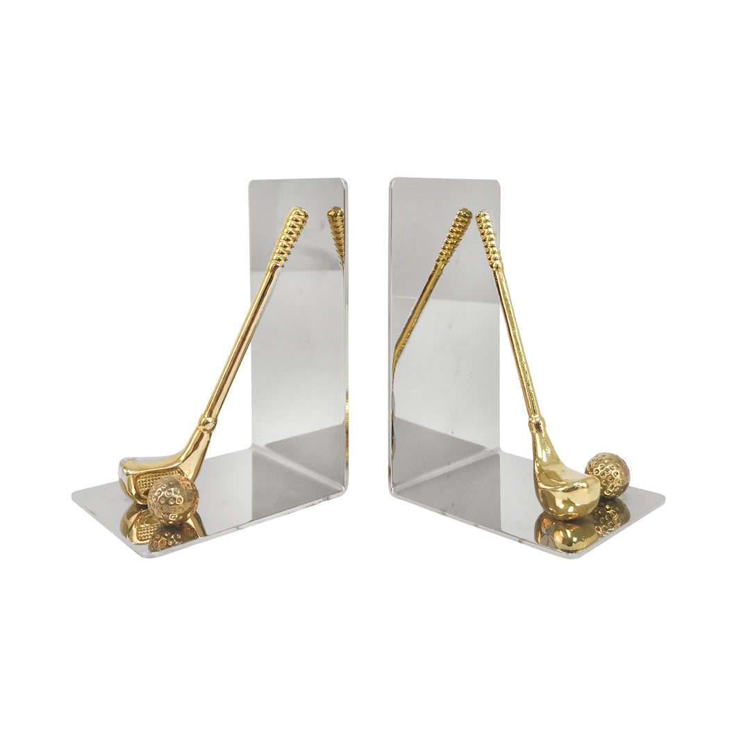 FRENCH GOLF MOTIF BOOKENDS - Flair Home Collection