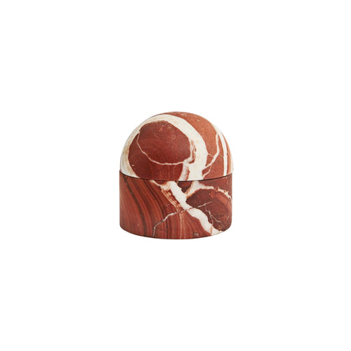 SMALL BEEHIVE BOX IN ROSSO MARBLE - Flair Home Collection