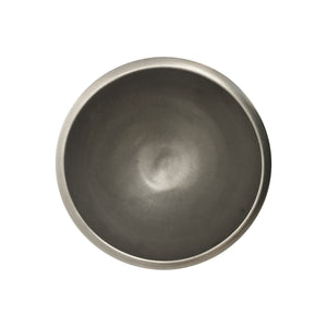 ROUND BURNISHED PLATINUM LUSTRE CERAMIC BOWL - Flair Home Collection