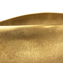 Load image into Gallery viewer, LARGE ASYMMETRICAL CERAMIC BOWL WITH 22K BURNISHED GOLD LUSTRE GLAZE - Flair Home Collection