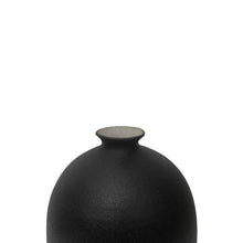 Load image into Gallery viewer, CERAMIC BOTTLE VASE WITH MATTE BLACK GLAZE AND STOPPER #4 - Flair Home Collection