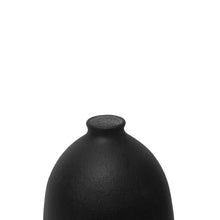 Load image into Gallery viewer, CERAMIC BOTTLE VASE WITH MATTE BLACK GLAZE STOPPER #5 - Flair Home Collection