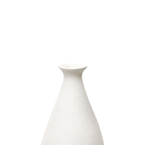 TALL CERAMIC BOTTLE VASE WITH 22K GOLD LUSTER SWIRL AND STOPPER - Flair Home Collection
