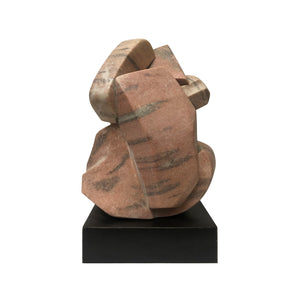 ABSTRACT CORAL AND GREY MARBLE SCULPTURE - Flair Home Collection