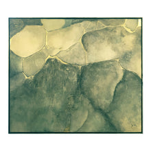 Load image into Gallery viewer, LARGE MIXED MEDIA ABSTRACT IN COOL EARTH TONES AND GOLD BY JOHN KIRALY - Flair Home Collection