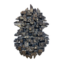 "Load image into Gallery viewer, ""COMPOSITION 8.4"" WALL SCULPTURE IN BLACK GOLD FINISH - Flair Home Collection"
